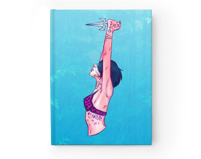 Featured listing image: NOTEBOOK 'Savage by Nature' blank hardcover journal