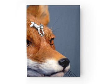 "NOTEBOOK ""Foxy rider"" blank hardcover journal diary"