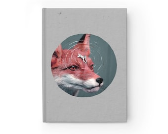NOTEBOOK 'Foxy Rider II' ruled hardover journal