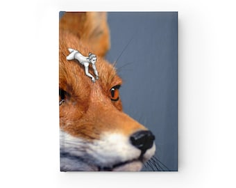 NOTEBOOK 'Foxy Rider' ruled hardcover journal