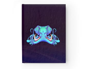 NOTEBOOK 'Octophant II' ruled hardcover journal