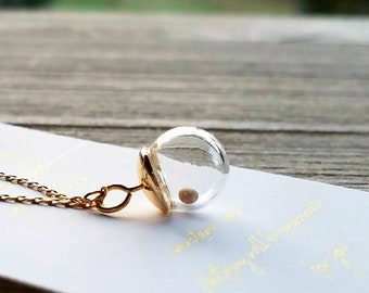Mustard seed CHARM ONLY, 14k gold