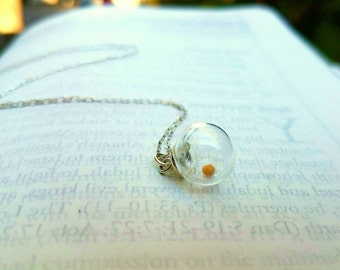 Mustard seed necklace by Boomdyada, Sterling Silver, graduation gifts, faith necklace, inspirational, encouragement, confirmation, baptism