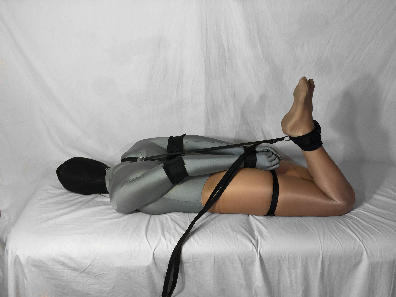 Self Bondage Hogtie System Padded Elbow Armbinder Mature