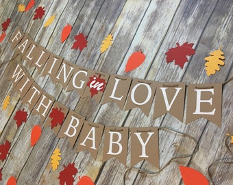 Falling in Love Banner, Fall Baby Shower, Fall Baby, Fall Baby Shower Banner, Falling in Love, Falling in Love with Baby Banner