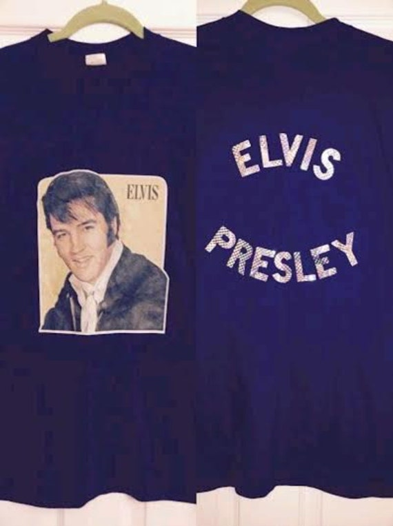 Vintage 70's-80's Elvis Presley T-Shirt Navy with