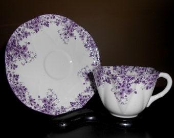 Wonderful Shelley Dainty Mauve Cup & Saucer