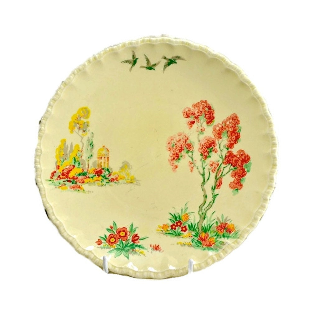 Grindley English China Decorative Plate Vintage Wall Plate of
