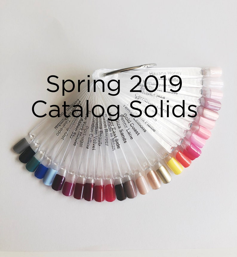Color Street Nail Display 2019 Spring Catalog Solids Collection! Perfect  for Vendor Events, Nail Bar Parties, Craft Shows