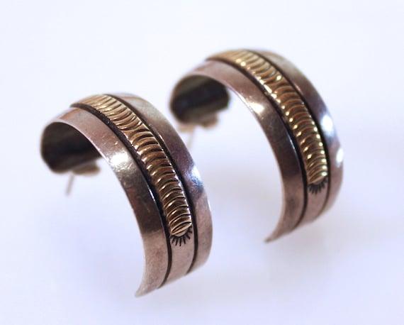 Navajo 14k SterlingB.Morgan Pierced Earrings