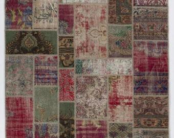 Karpet Vintage Patchwork.Patchwork Rug Etsy
