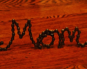 UpCYCLEd Bike Chain MOM sculpture