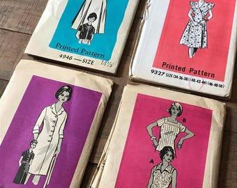 Vintage Sewing Patterns, Set of Four, SN01
