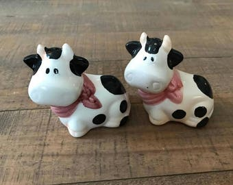 Cow Salt and Pepper Shakers, Salt and Pepper Shakers, Split Cow