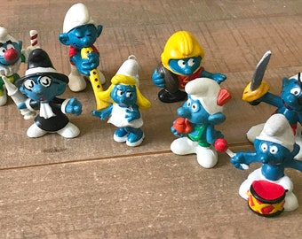 Smurf miniatures   Etsy
