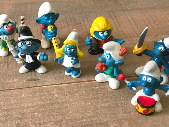 Vintage Smurf Toys Smurf Collection Vintage Smurf Etsy