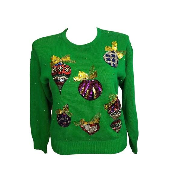 Ugly Christmas Sweater, Size Large, Holiday Sweate