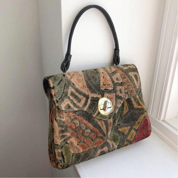 Vintage Carpet Bag, Vintage Carpet Handbag, Mary P