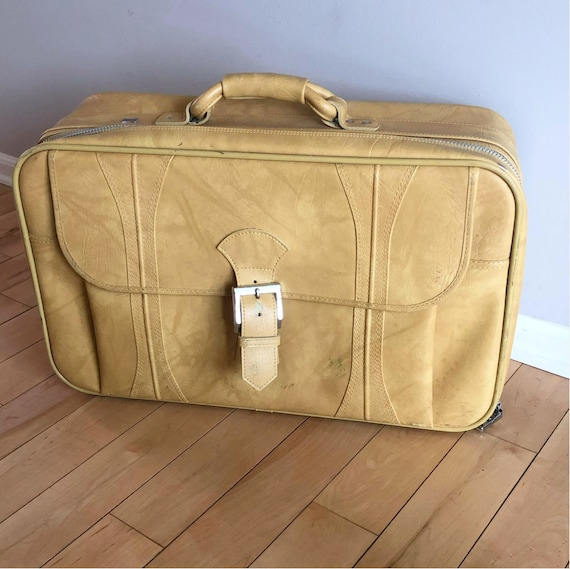 Vintage Suitcase, American Tourister, Yellow Suitc