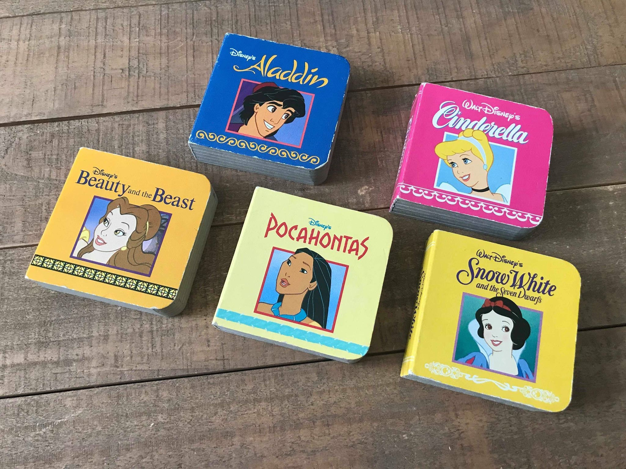 Vintage Disney Princess Children S Books Set Of Five Etsy