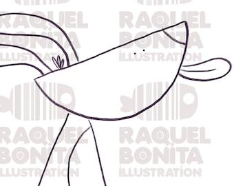 Digital stamp DOG ready to print   DIGISTAMP   SCRAPBOOKING   Adults & Kids