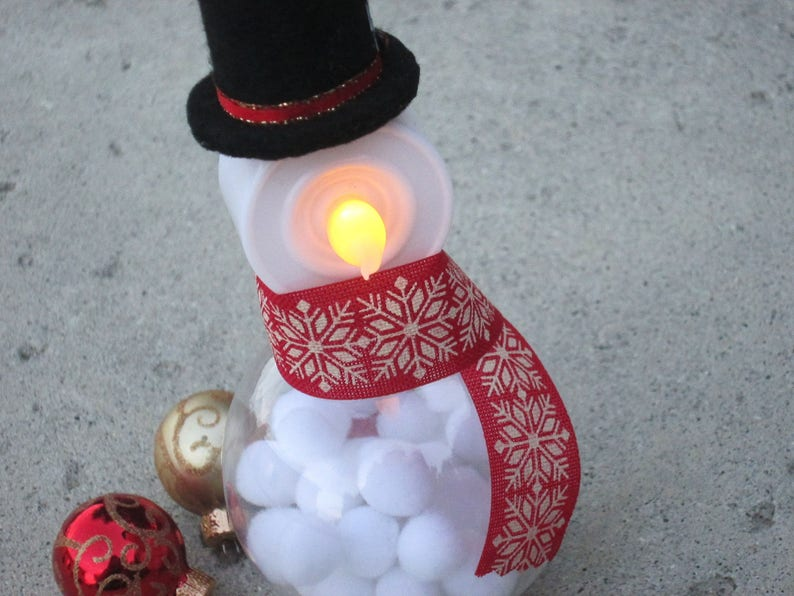 20ee408cd90d8 Christmas Light Up Snowman ornament   decoration with Top Hat
