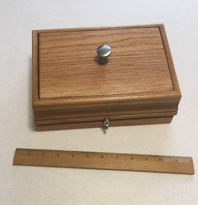 Large Oak Kief Box