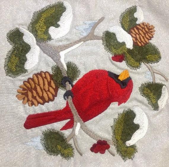 Christmas Cardinals Images.Christmas Cardinals Wall Hanging