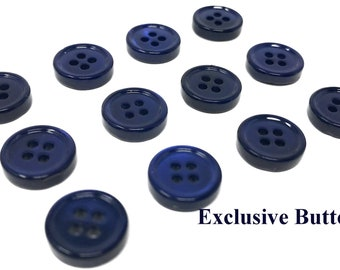 Navy blue buttons | Etsy
