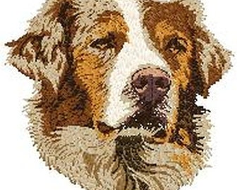 "Weave Pole Embroidered Patch 4./"" Tall Agility Dog Australian Shepherd Aussie"