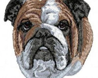 3208cc250d1 English Bulldog Embroidered Patch or Hat