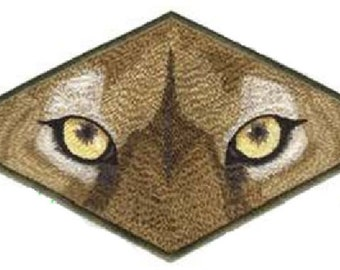 """Cougar Eyes Exotic Cat Embroidered Patch 4.7"""" x 4"""""""