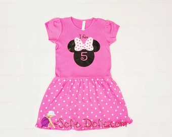 758eac8a7 Minnie Mouse Dress, Disney Inspired Dress, Minnie Mouse Party Dress, Minnie  Mouse Birthday Dress