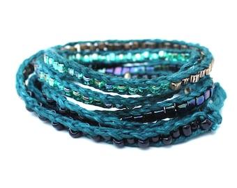LuLi Bracelet Pattern - Bead Knit Wrap Bracelet Pattern DIY