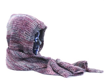 Shelter From the Storm Pattern - Hooded scarf in chunky weight sized for children and adults
