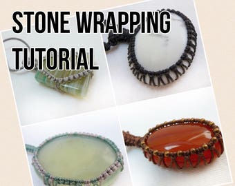 TUTORIAL Macrame Stone Wrapping / Macrame Stone Tying / Knotty Knotty Macrame