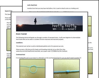 TUTORIAL Macrame Knots / Macrame Knots DIY