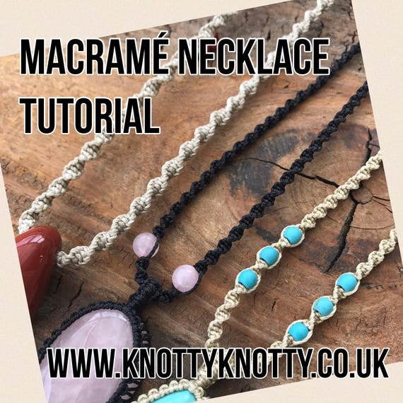 TUTORIAL Macrame Necklace   Macrame Spiral Necklace DIY    0a115df9e07