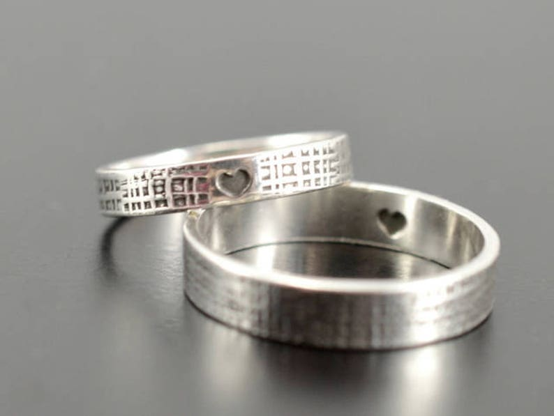 b94c58f99f Matching rings Set of 2 rings Mother daughter ring Promise   Etsy