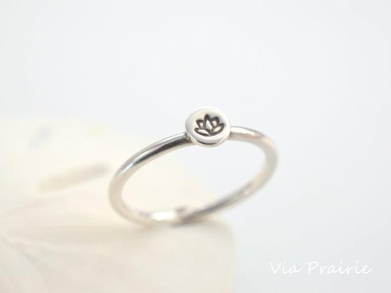 Lotus Flower Ring Zen Jewelry Yoga Ring Yoga Jewelry Etsy
