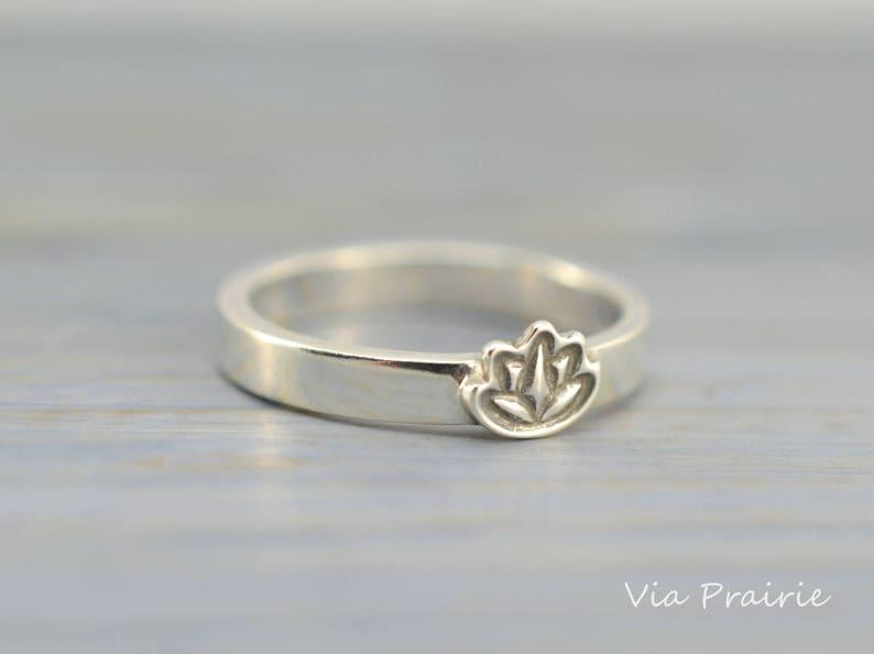 Lotus Flower Ring Yoga Lotus Ring Yoga Pinky Ring Zen Ring Etsy