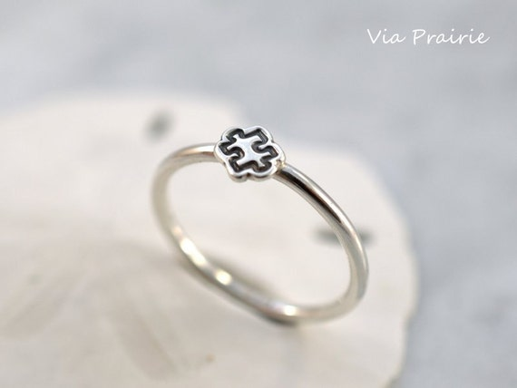 Puzzle Piece Ring Puzzle Ring Autism Awareness Stackable Etsy