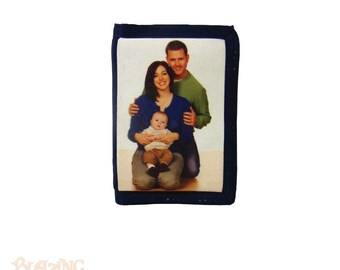 Men's TriFold Nylon Wallet Personalized with Custom Photo