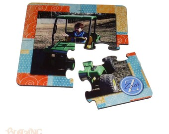 Coaster 4 Piece Puzzle Set Personalized with Custom Photo