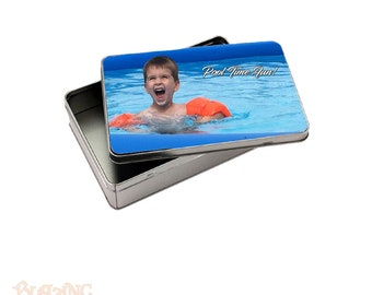 Rectangle Metal Storage Tin Personalized with Custom Photo