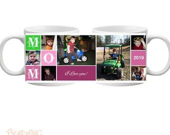 Personalized Mom/ Mommy Block Photo Coffee Mug