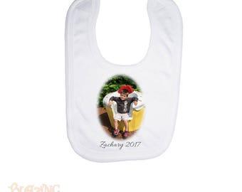 Personalized Custom Photo Fleece Baby Bib