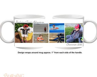Personalized Create Your Own Photo Collage Coffee Mug