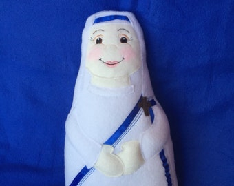 Mother Teresa Soft Saint Doll, Saint Teresa of Calcutta Doll, St. Mother Teresa,  Perfect for little ones to Snuggle.