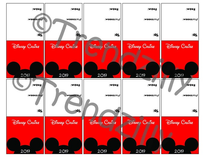 2019 Mickey Inspired Mini Candy Bar Tag Topper Wrappers, Cruise Bag Topper, Fish Extender gift, Instant Download